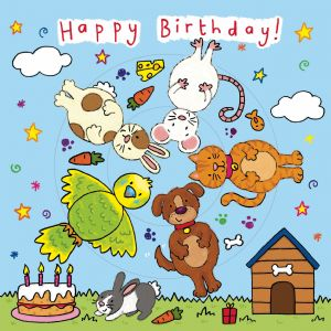 Children's Birthday Card Spinner - Farmyard Animals
